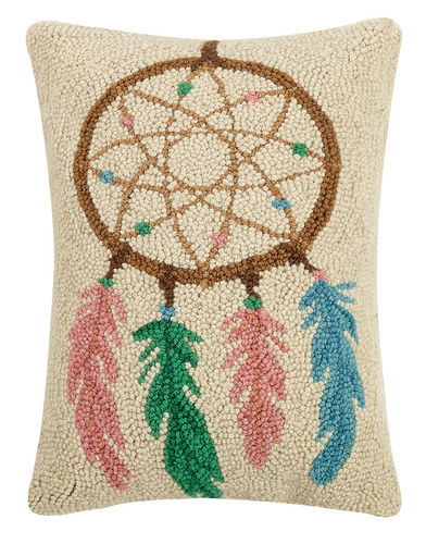 Dream Catcher Hooked Pillow