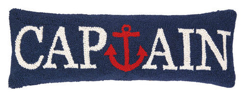 Captain Anchor Hooked Pillow