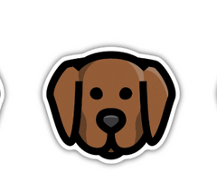 Chocolate Lab Sticker