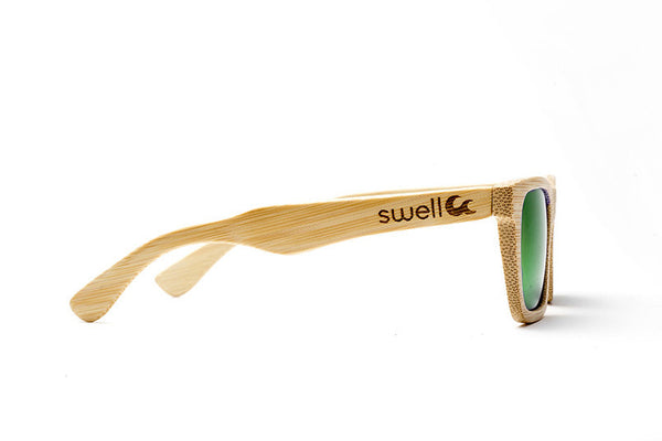 Classic Natural w/ Green Lenses by Swell Vision