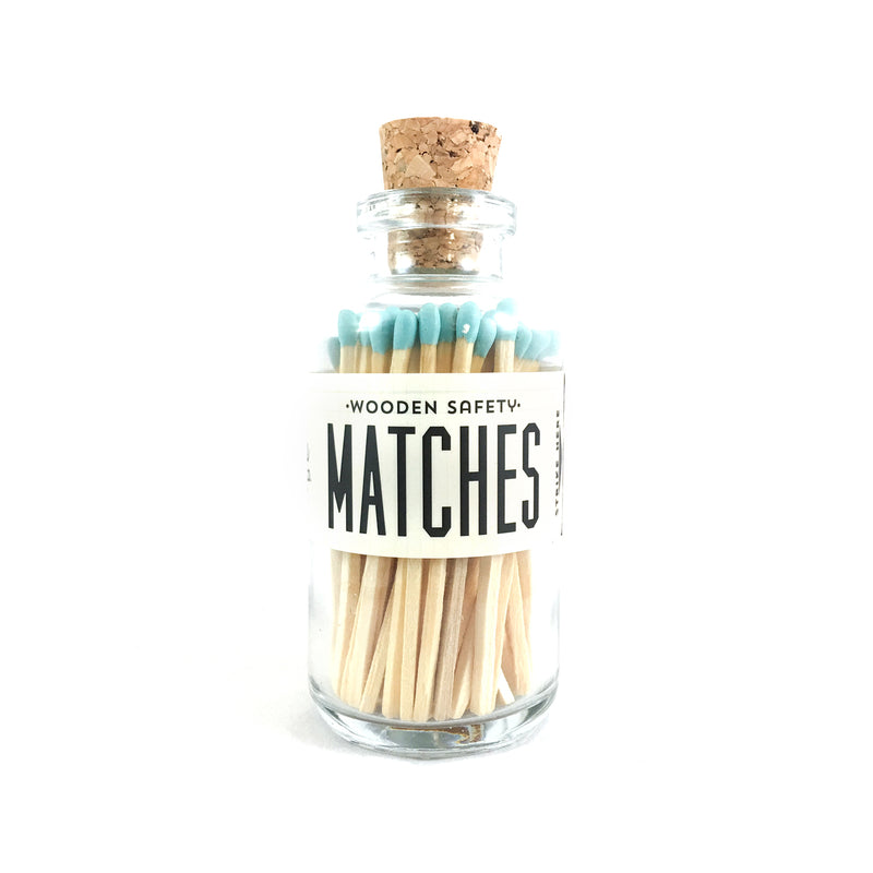 Teal Matches Apothecary Vintage Small