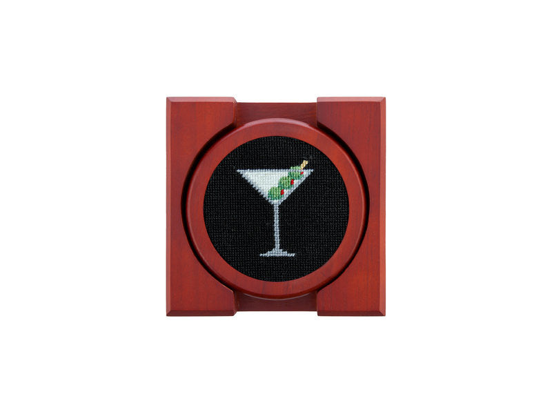 Martini Needlepoint Coaster Set by Smathers & Branson
