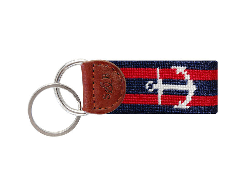 Striped Anchor Key Fob by Smathers & Branson