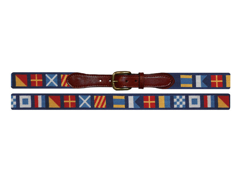 American Flag Needlepoint Belt by Smathers & Branson