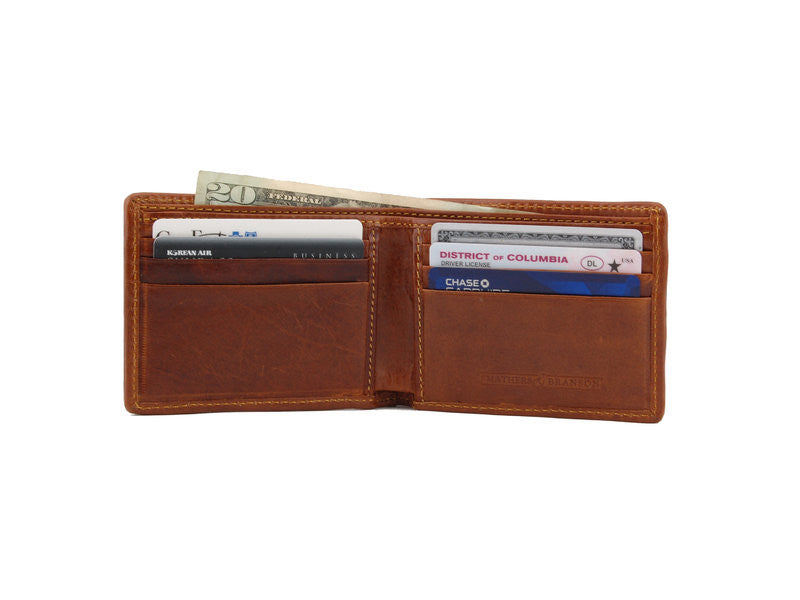 Crossed Clubs Bi-Fold Wallets by Smathers & Branson