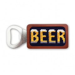 Beer Needlepoint Bottle Opener by Smathers & Branson