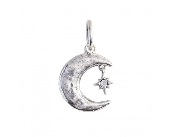 Shoot THe Moon Charm- Sterling Silver by Waxing Poetic