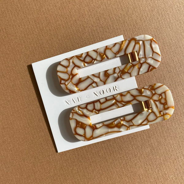 Nat + Noor Tortoise Hair Clips