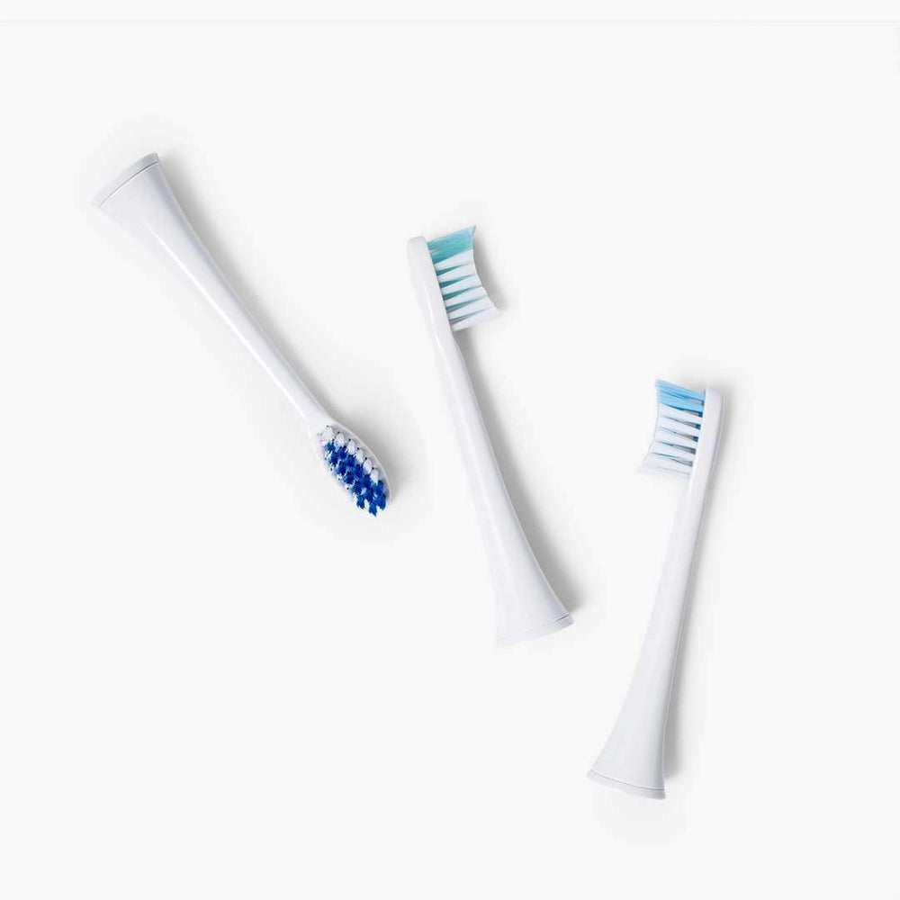 3-pack small replacement brush heads | for Elements Sonic Toothbrush - Black Friday