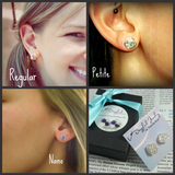 Upgrade to Sterling Silver Posts / Sterling Silver Backs for any pair of VDazzled stud earrings