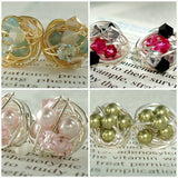 VDazzled Made to order- Customize Your Own Pair of Signature Wire Wrapped Stud earrings post earrings
