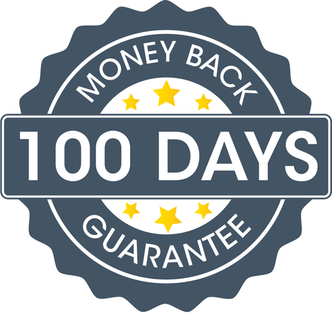 100 days money back guarantee