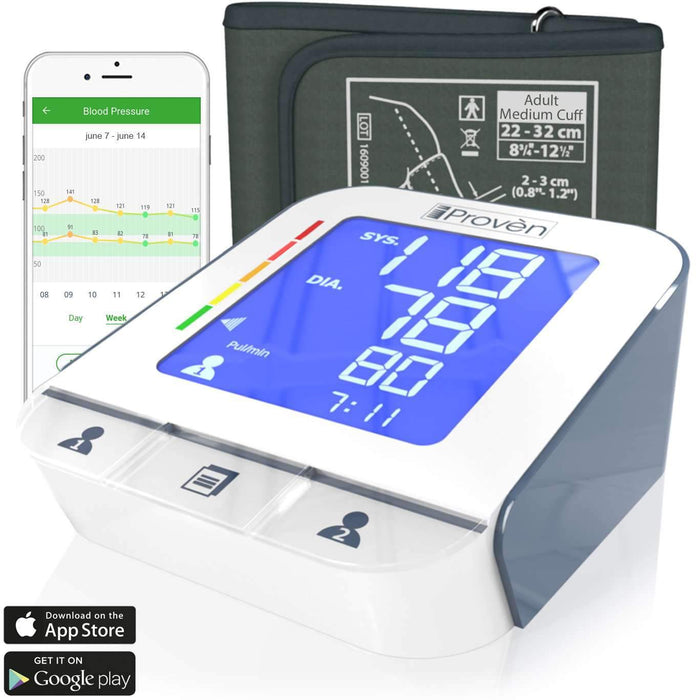 Blood Pressure Monitor with Cuff - Free App - Lightning fast & Highly Accurate - BPM-2244BT