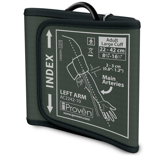 Cuff for Blood Pressure Monitors - Large Upper Arm Cuff - Size L 8¾ -16½ inch or 22-44cm - iProvèn Large-Cuff - compatible with BPM-634 and BPM-2244BT BPM iProvèn