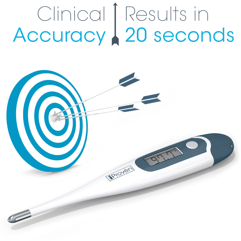 Digital Thermometer with rigid tip - Rectal (recommended), Oral and Axillary Thermometer - DTK-117B