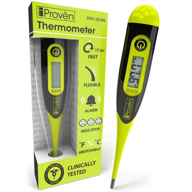 iProven DTR-1221BG Digital Thermometer - Easy, Accurate, Fast Oral & Rectal Thermometer