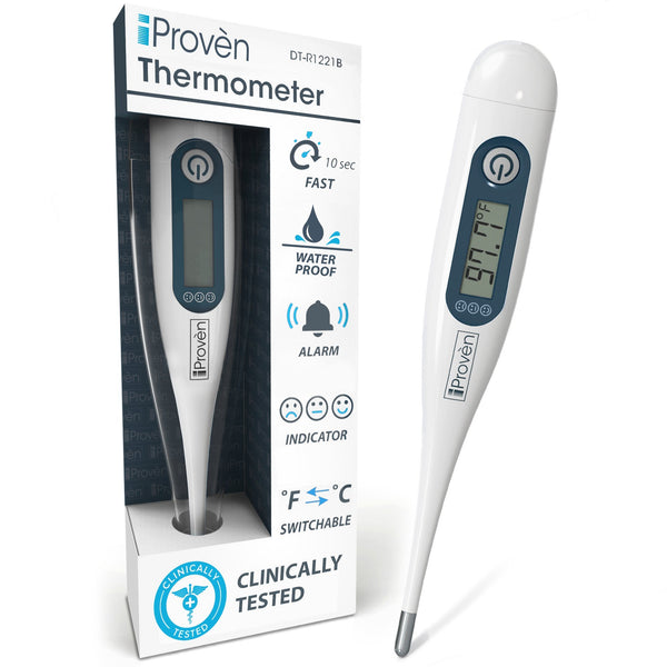 Oral and rectal digital thermometer rigid tip - With convenient temperature indication - DT-R1221B Digital thermometer iProvèn