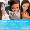Disposable Face Masks - With Ear Loop - Pack of 20 (Blue) Face Mask iProven
