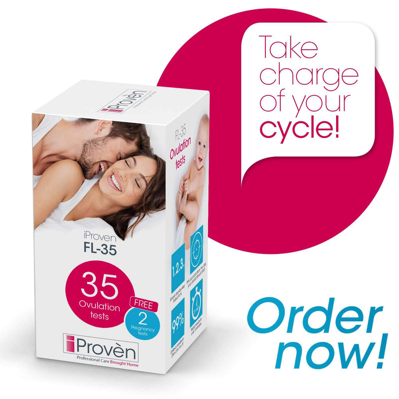 Ovulation Predictor Kit - 35 LH-Tests - Fertility Monitor - Ovulation Test Strips - for Trying to Conceive Women - iProvèn FL-35 Fertility Tracking iProvèn