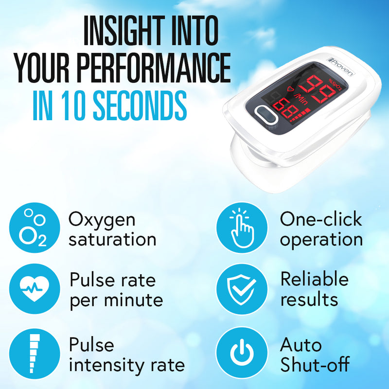 finger pulse oximeter oxygen saturation pulse rate instensity