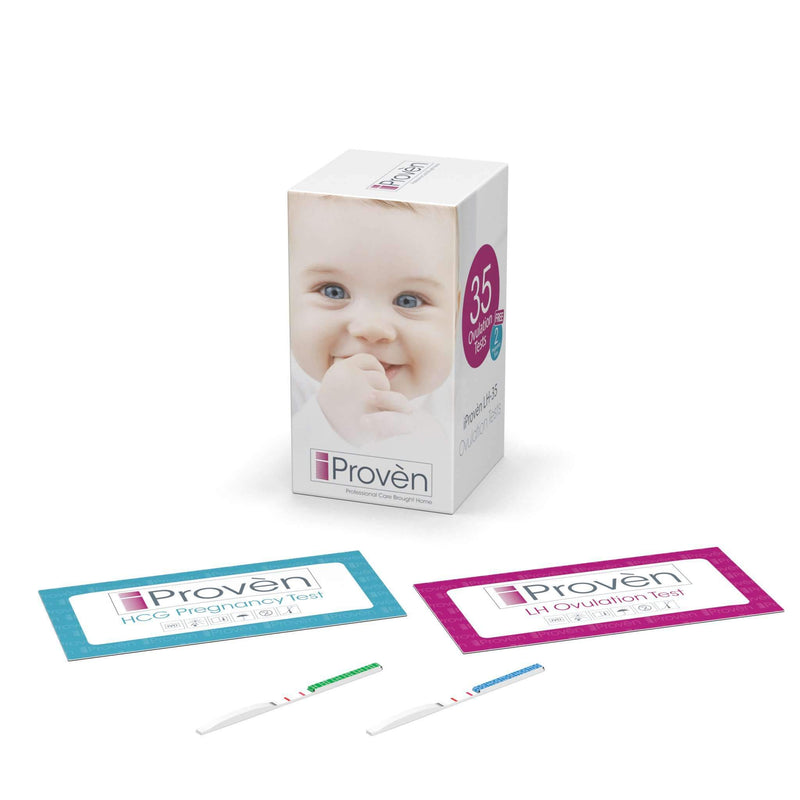 TTC Kit iProvèn - Everything you Need when Trying to Conceive - OPK with Basal Thermometer and Folate - Free Starter Guide Fertility Tracking iProvèn