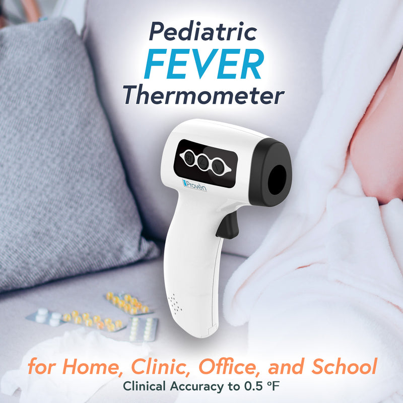 iProven No Touch Infrared Thermometer for home and professional usage. Thermometer for fever. Clinical Accuracy to 0.5 Fahrenheit