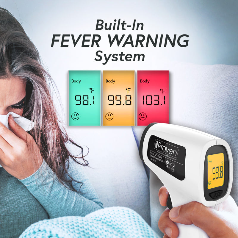 iProven No Touch Infrared Thermometer with built-in fever warning system