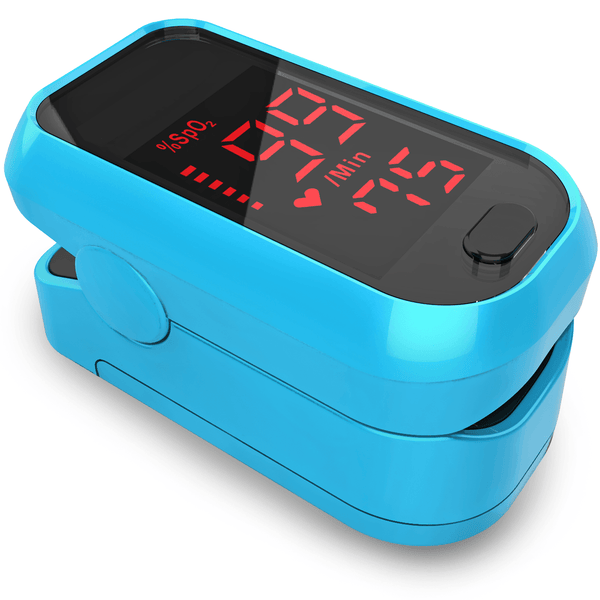 Pulse Oximeter Fingertip O2 Saturation Monitor Oximeter iProven Blue