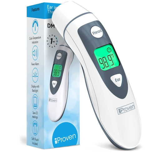 Ear and Temporal Thermometer with Fever Indicator - DMT-489