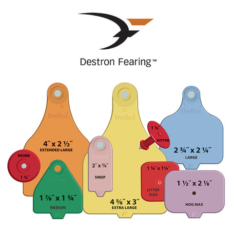 Destron Fearing Duflex Ear Tags