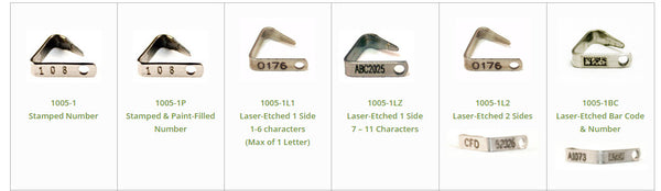 cck sells metal ear tags for small animals and mice that are customize with bar codes