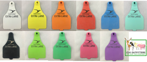 Duflex tag colors sold by CCK Outfitters
