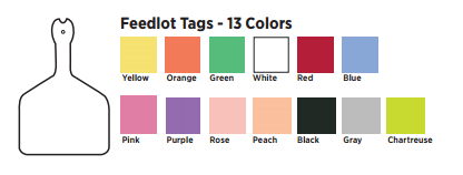 Z Tags feedlot colors