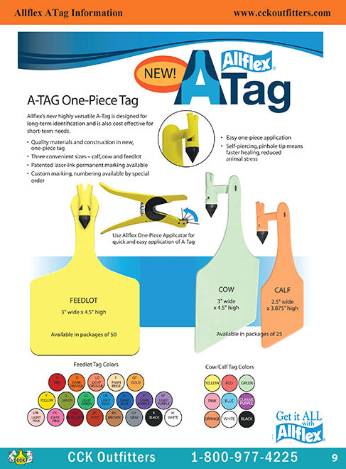 CCK On Line Catalog Page of Allflex Atag ear tags