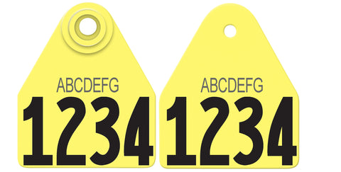 allflex medium fawn ear tags customized on both sides