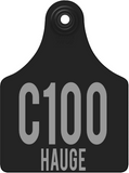 cck custom allflex vineyard row tag in black