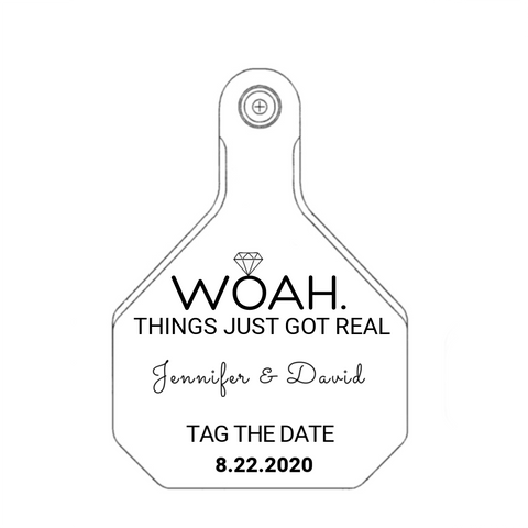 cck sells save the date customized tags for wedding cards