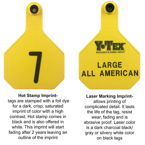 Y-Tex 4 Star Large Cattle Ear Tags White Numbered 126-150