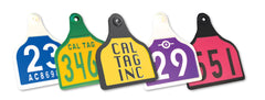 Cal Tag engraved ear tags sold by cck outfitters