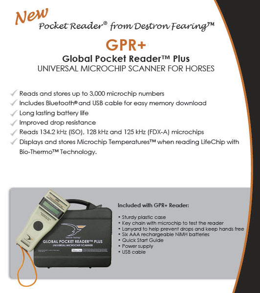 CCK sells Destron Fearing Equine Microchip Global Pocket Reader Plus GPR+ scanner