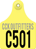 CCK custom allflex ear tag for vineyard row tags