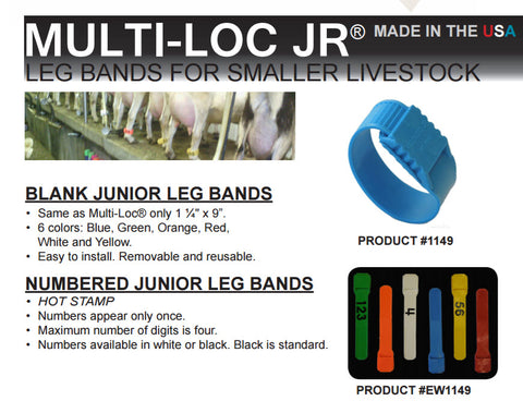 Bock Junior leg band information sheet