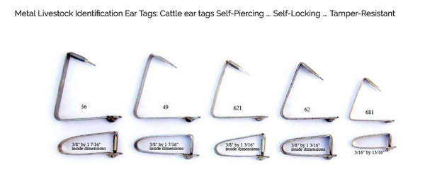 CCK Outfitters sells metal ear tags by National Band & Tag.