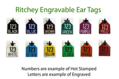 Ritchey engraved ear tags sold by cck outfitters