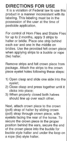 Horse strips directions for use