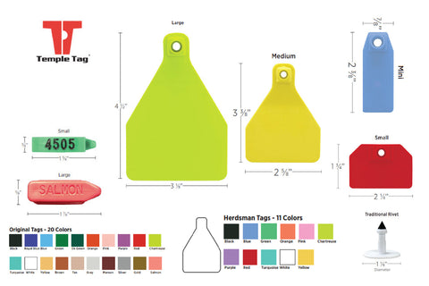 CCK sells Temple Ear Tags family of sizes