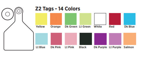 cck sells 14 colors of z2 ear tags