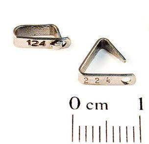 Self-Piercing Tiny Fish Tag – STYLE 1005-1 Numbered Metal Tags (100/bag)