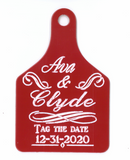 Ritchey Large Engraved Custom Save the Date Tag