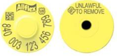 Allflex USDA 840 Visual Tamperproof Round Tag and Button